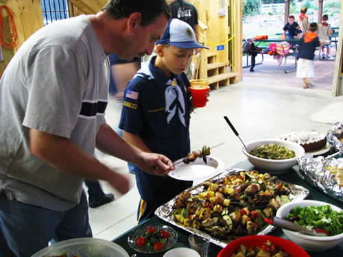 Cub Scouts Pack 44 Feast from Garden!